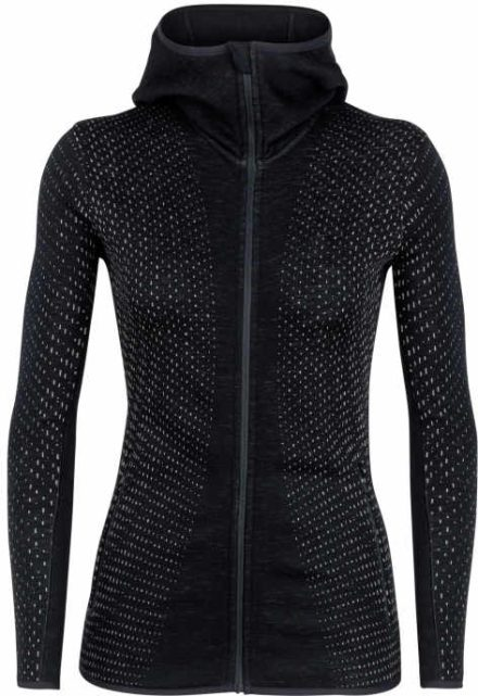 Icebreaker Icebreaker dames's Elemental Long Sleeve Zip Hood Crystal (Overige kleuren)