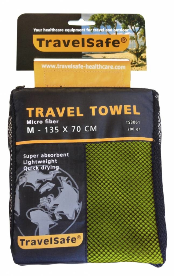Travelsafe Microvezel reishanddoek M 135 x 70 cm Groen