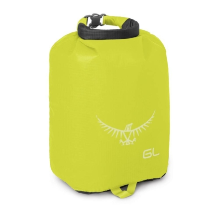 Osprey Ultralight DrySack 6 liter drybag Electric Lime waterdichte zak