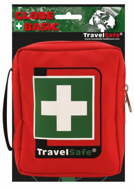 Travelsafe Globe Basic tas EHBO tas rood