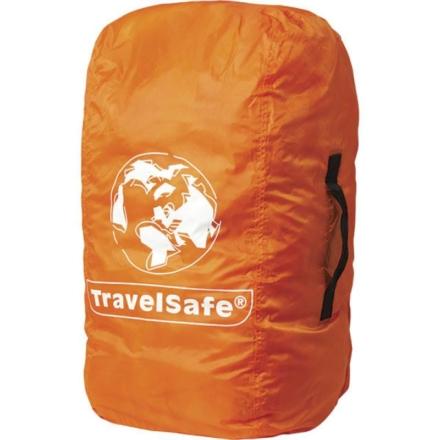 Travelsafe Combi cover L 55-100l backpack flightbag & regenhoes oranje