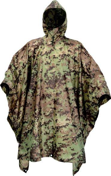 Defcon5 Poncho camouflage vegetato italiano