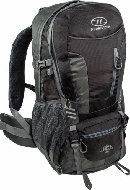 Highlander Hiker backpack 40L Zwart