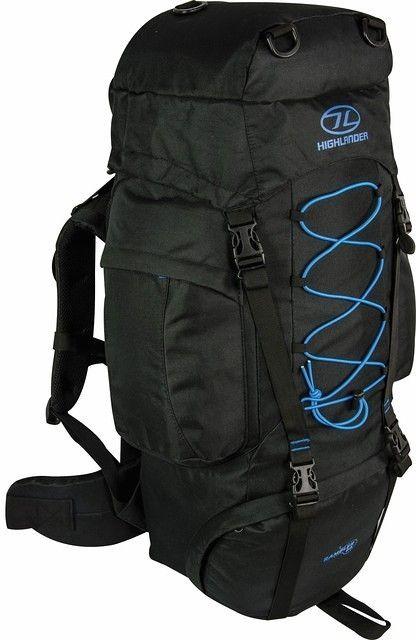 Highlander Rambler 66 liter backpack zwart blauw