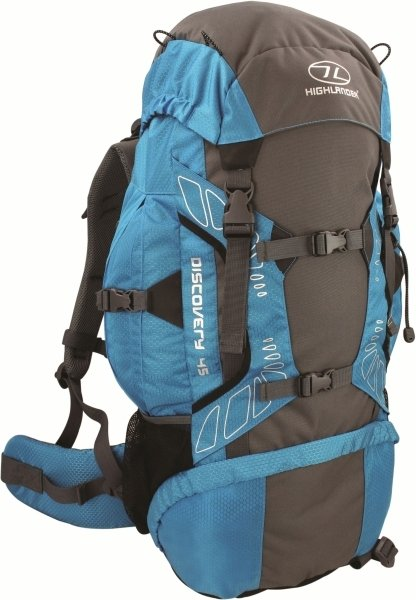 Highlander Discovery 45l backpack teal lichtblauw