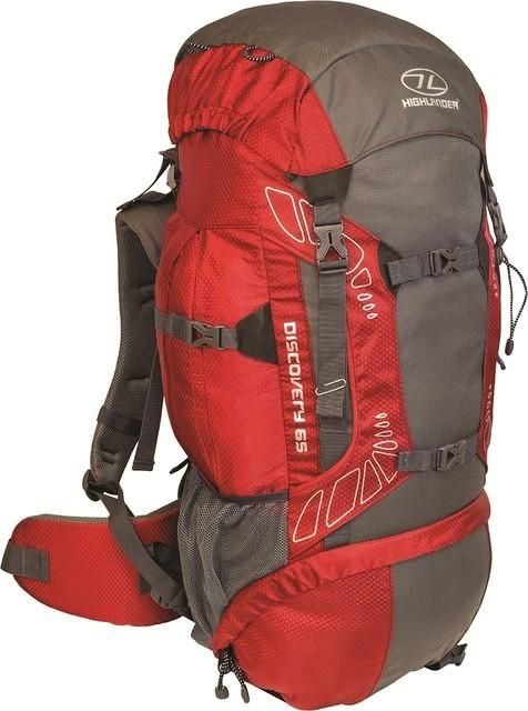 Highlander Discovery backpack 65l rood