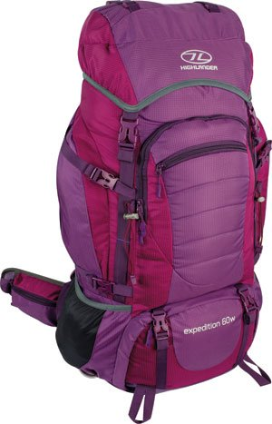 Highlander Expedition W dames backpack 60L paars