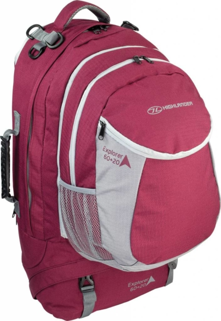 Highlander Explorer 60+20l travelbag rood