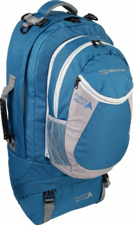Highlander Explorer 80+20l travelbag blauw