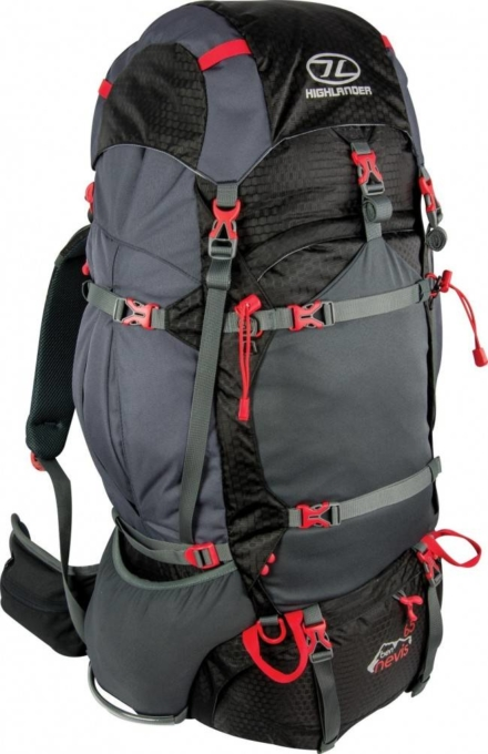 Highlander Ben Nevis 65L backpack zwart