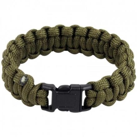 Highlander Paracord armband met fluitje Olive