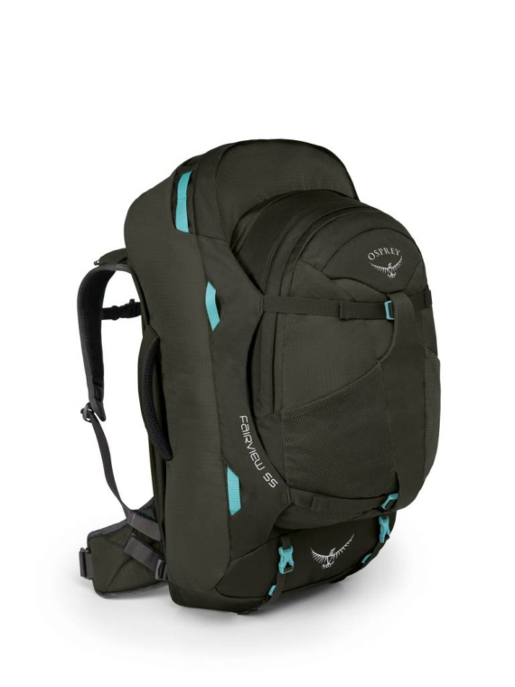 Osprey Fairview 55 WS/M dames travelpack Misty Grey