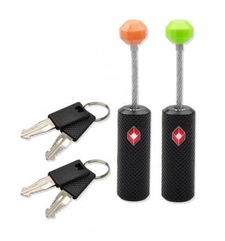 Munkees TSA slot ritsen kabelslot 2 sleutels