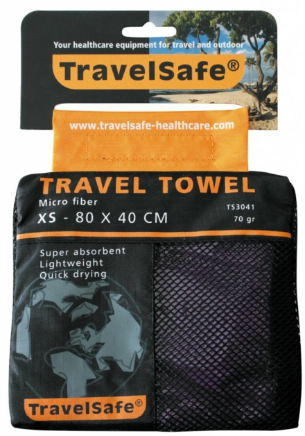 Travelsafe Reishanddoek XS 80 x 40 cm Paars