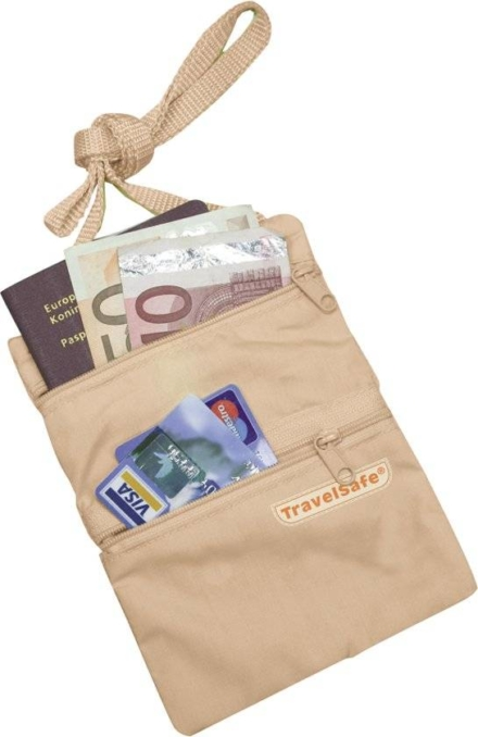 Travelsafe Nektasje moneybelt beige