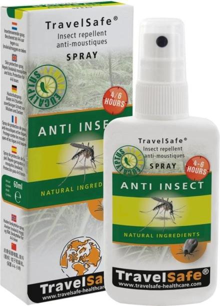 Travelsafe Anti insect spray 60ml natuurlijke ingrediënten- DEET alternatief