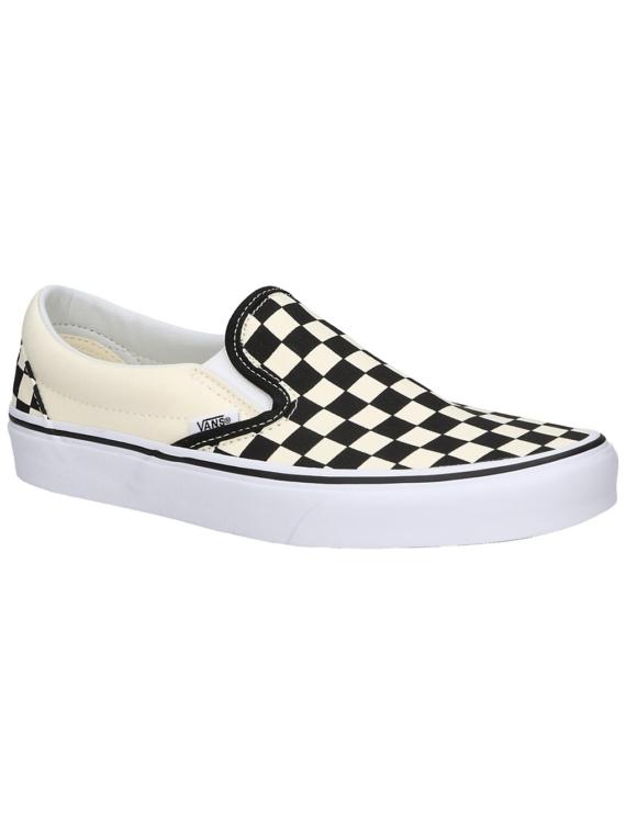 Vans Checkerboard Classic Slip-Ons zwart