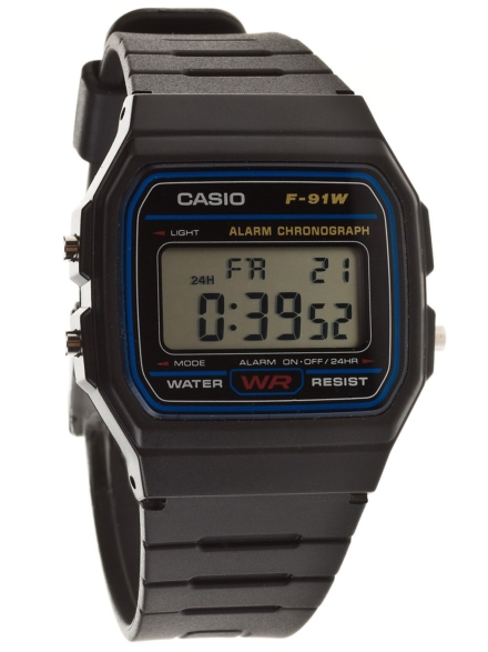Casio F-91W-1YEF zwart