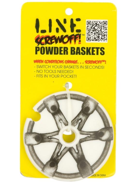 Line Screwoff Powder Basket 90 mm 12Pk patroon