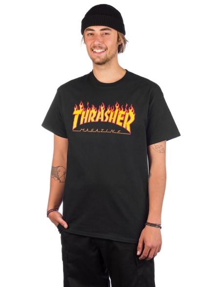 Thrasher Flame T-Shirt zwart