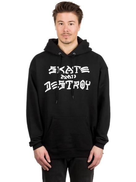 Thrasher Skate And Destroy Hoodie zwart