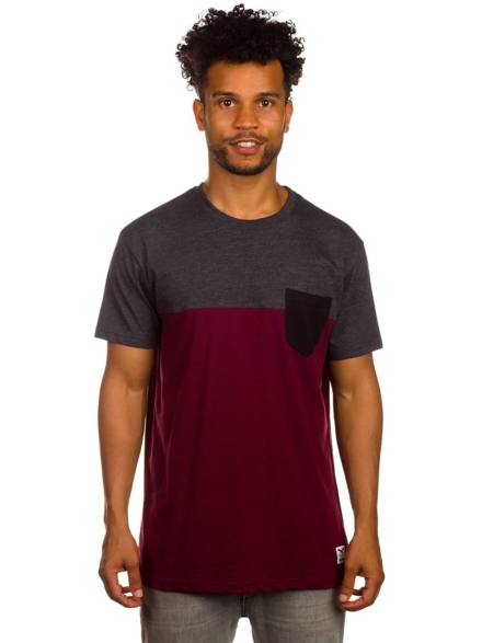 Iriedaily Block Pocket T-Shirt rood