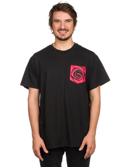 Empyre Rose Pocket T-Shirt zwart