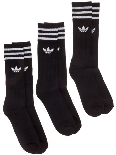 adidas Originals Solid Crew skisokken zwart