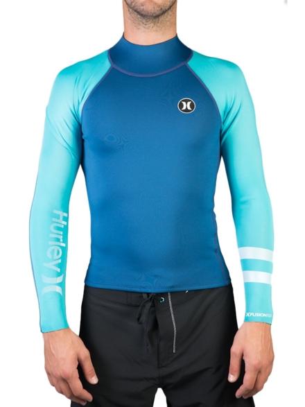 Hurley Fusion 101 Longsleeve Rash Guard blauw