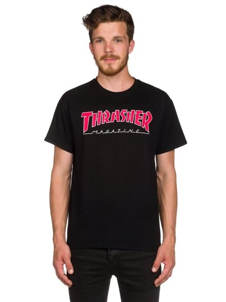 Thrasher Outlined T-Shirt zwart