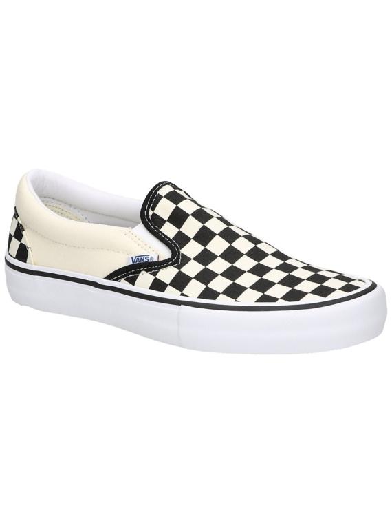 Vans Checkerboard Pro Slip-Ons zwart