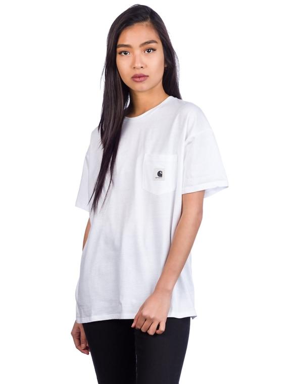 Carhartt WIP Carrie Pocket T-Shirt wit