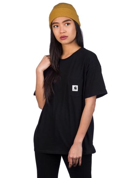 Carhartt WIP Carrie Pocket T-Shirt zwart