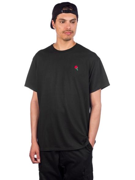 Empyre Rose Embroidery T-Shirt zwart