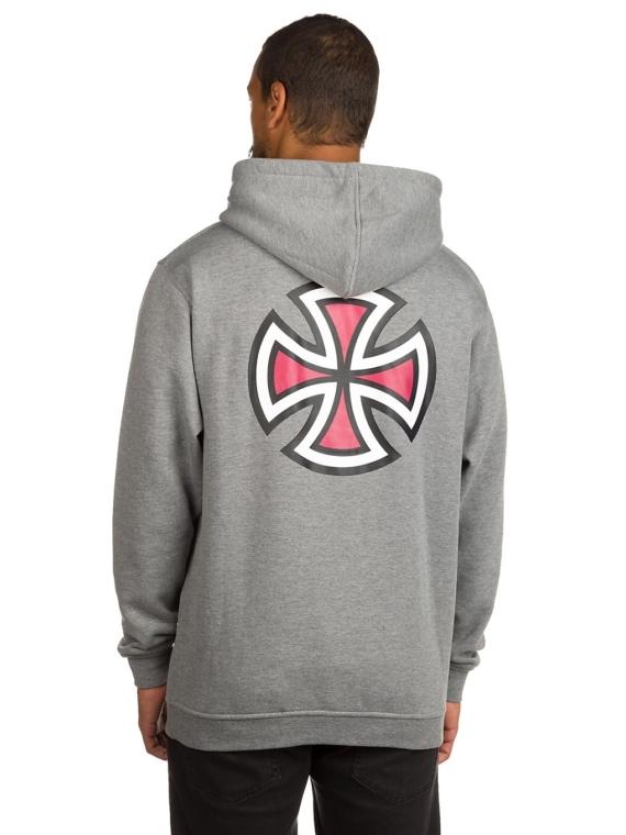 Independent Bar Cross Hoodie grijs