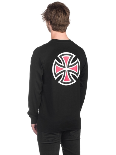 Independent Bar Cross Long Sleeve T-Shirt zwart