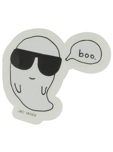 Jac Vanek Cool Boo Sticker wit