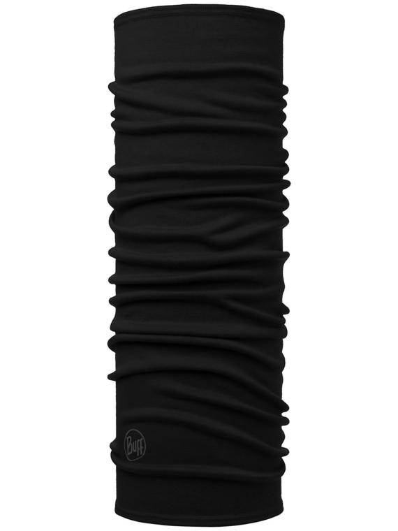 Buff Midweight Merino Wool Neck Warmer zwart