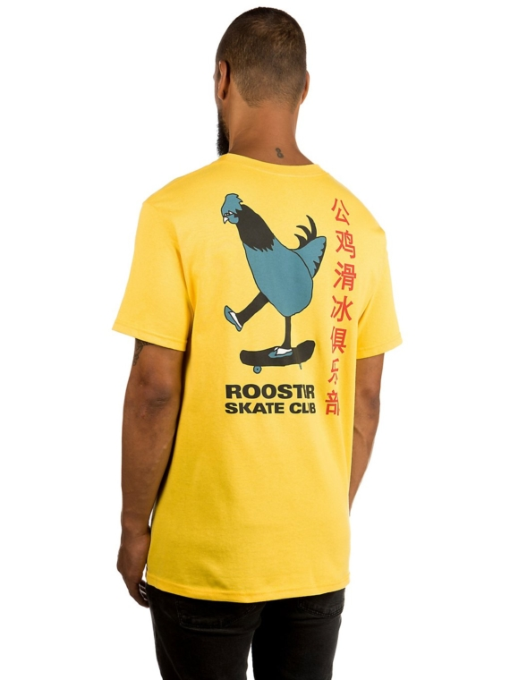 A.Lab Rooster Sk8 Club T-Shirt geel