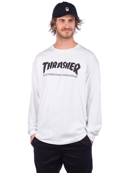 Thrasher Skate-Mag Long Sleeve T-Shirt wit