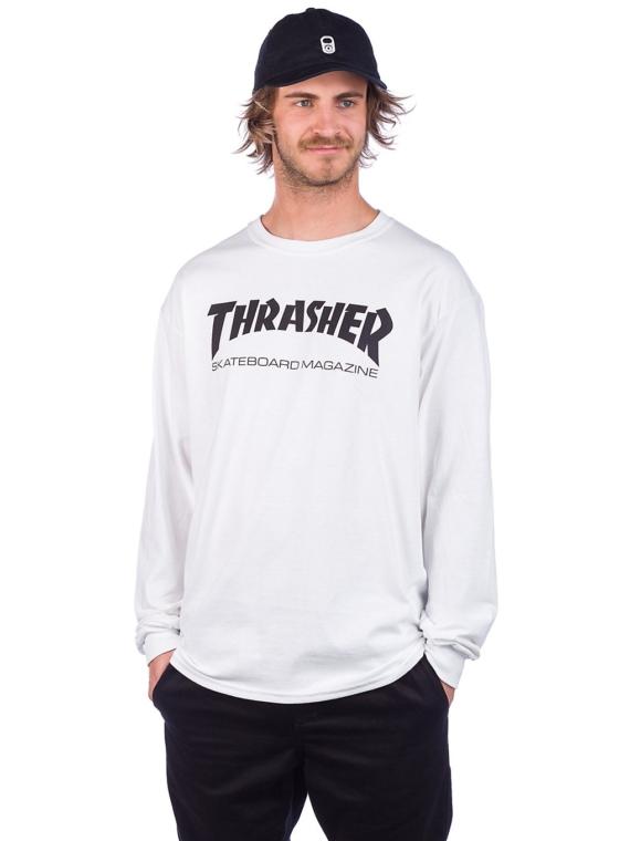 Thrasher Skate-Mag Long Sleeve T-Shirt wit