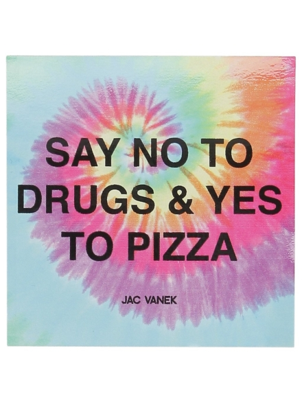 Jac Vanek Yes To Pizza Sticker patroon