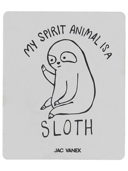 Jac Vanek Spirit Sloth Sticker wit