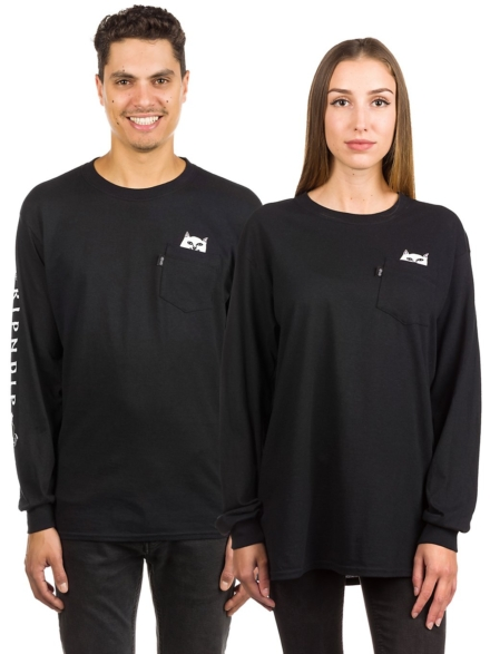 RIPNDIP Lord Nermal Pocket Long Sleeve T-Shirt zwart