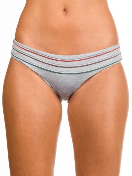 RVCA Pipeline Medium Bikini Bottom grijs