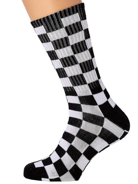 Vans Checkerboard II Crew (6.5-9) skisokken zwart