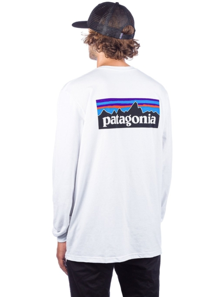 Patagonia P-6 Logo Responsibili Long Sleeve T-Shirt wit
