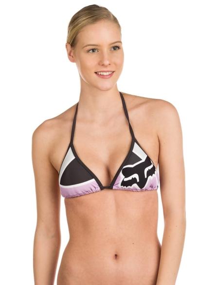 Fox Momentum Triangle Bikini Top paars