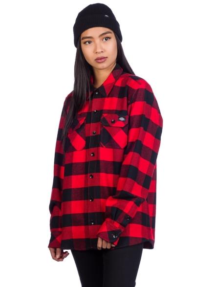Dickies Sacramento Shirt met lange mouwen rood