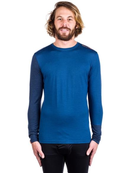 Ortovox Merino 185 Rock'n'Wool Tech t-shirt met lange mouwen blauw